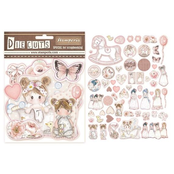 Die cuts Stamperia Little girl