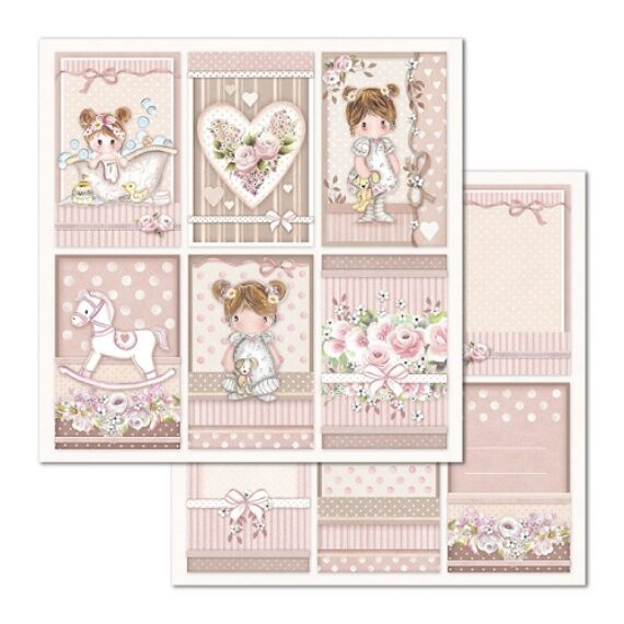 Carte scrapbooking double face Stamperia – 7