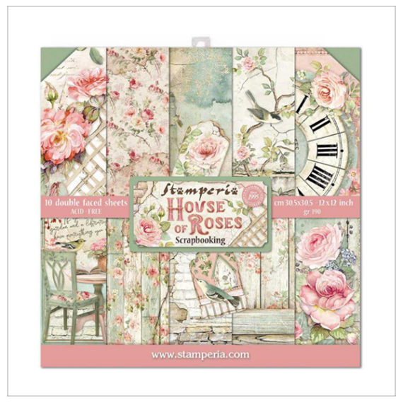 Paper pack Stamperia House of roses